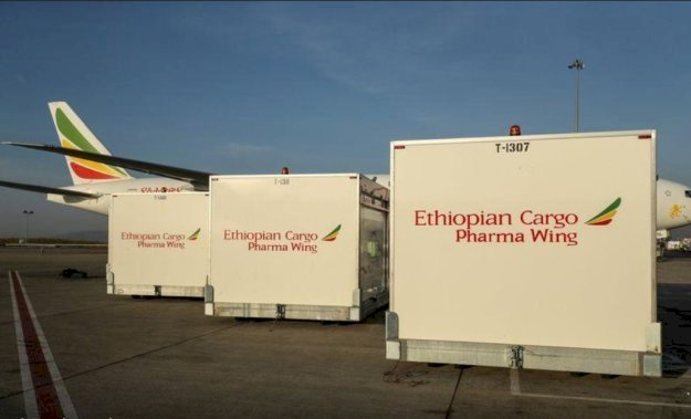 Ethiopian Transports COVID-19 Vaccines to African Countries